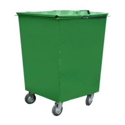 Металлический контейнер 0,75 м3 на колесах, c крышкой