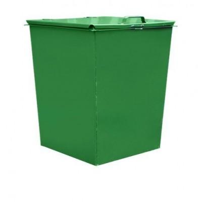 Металлический контейнер 0,75 м3 без колес, c крышкой