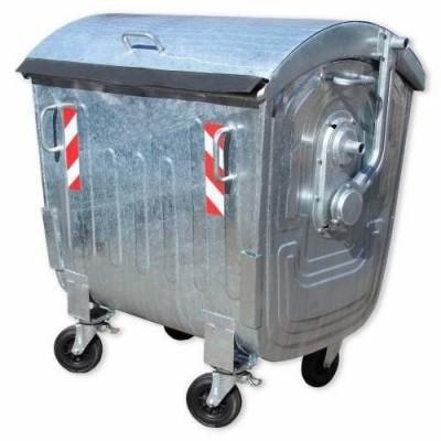 Контейнер металлический 1100 литров оцинкованный