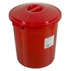 Бак для сбора, хранения и перевозки медицинских отходов МК-03 МедКом (многоразовый с крышкой), 50 л красный
