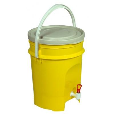 Емкость-контейнер с краном Контейнер-дезинфектор, 15 л, желтый