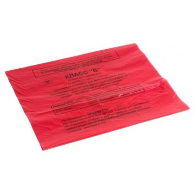 Пакет для сбора медицинских отходов 600х1000 мм красный