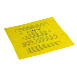 Пакет для сбора медицинских отходов 500х600 мм желтый
