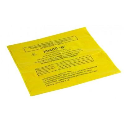 Пакет для сбора медицинских отходов 330х600 мм желтый