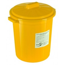 Бак для сбора, хранения и перевозки медицинских отходов МК-03 МедКом (многоразовый с крышкой), 20 л