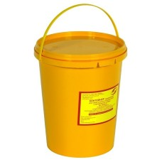 Емкость-контейнер одноразовая (желтого цвета) (для сбора органических отходов класса Б), 3,0 л., с индикатором вскрытия.