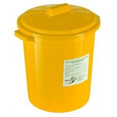 Бак для сбора, хранения и перевозки медицинских отходов (многоразовый с крышкой), 35 л