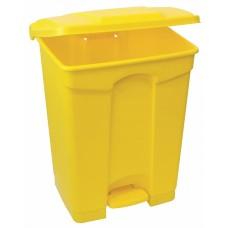 Бак с педалью желтый, 15 литров