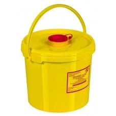 Емкость-контейнер одноразовая (желтого цвета) МК-01 МедКом (для сбора острого инструментария класса Б), 6,0 л.