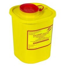 Емкость-контейнер одноразовая (желтого цвета) МК-01 МедКом (для сбора острого инструментария класса Б), 1,5 л.
