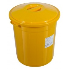 Бак для сбора, хранения и перевозки медицинских отходов (многоразовый с крышкой), 50 л