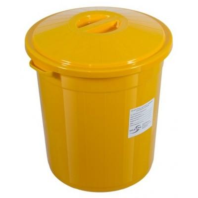 Бак для сбора, хранения и перевозки медицинских отходов (многоразовый с крышкой), 65 л