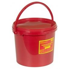 Емкость-контейнер одноразовая (красного цвета) (для сбора органических отходов класса В), 6,0 л., с индикатором вскрытия.