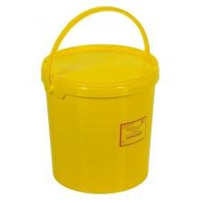 Емкость-контейнер одноразовая (желтого цвета) МК-02 МедКом (для сбора органических отходов класса Б), 20,0 л., с индикатором вскрытия.